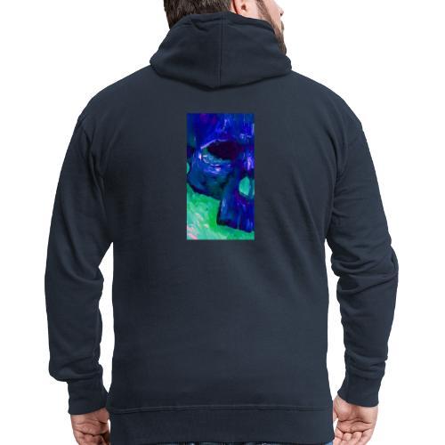 Blue Skull #2 - Mannenjack Premium met capuchon