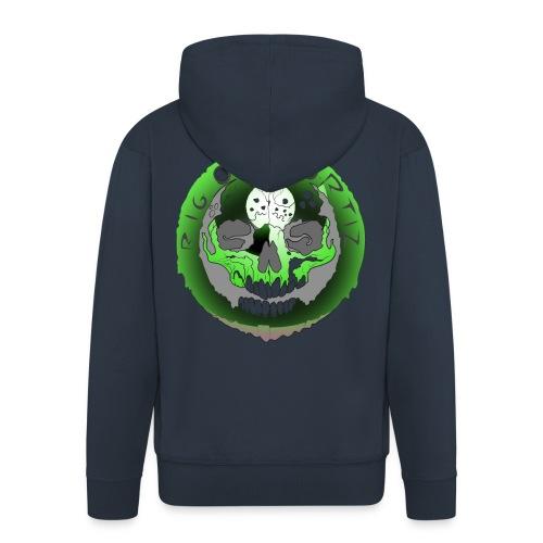 Rigormortiz Metallic Green Design - Men's Premium Hooded Jacket