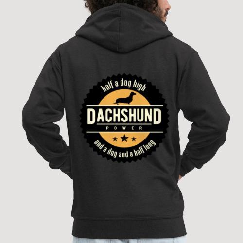 Dachshund Power - Mannenjack Premium met capuchon