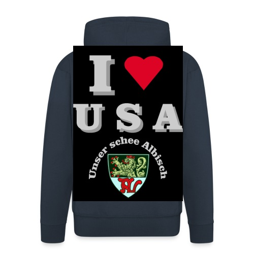 i love usa fuer schwarzes t shirt - Männer Premium Kapuzenjacke