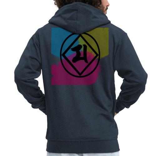 Logo Japones color - Chaqueta con capucha premium hombre