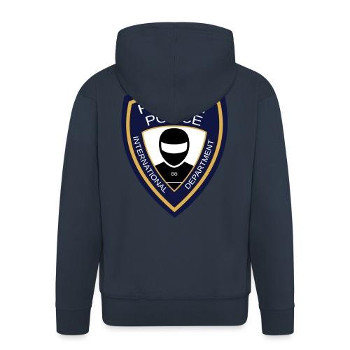 HELMET POLICE AT LAZYROLLING - Men's Premium Hooded Jacket