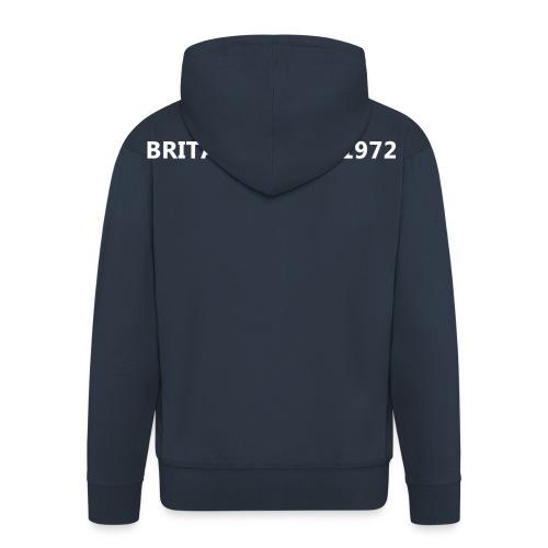 britanco est 1972 white - Men's Premium Hooded Jacket