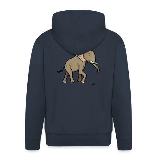 Słoń afrykański - Rozpinana bluza męska z kapturem Premium