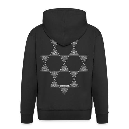 BHS LOGO_pattern-12 - Men's Premium Hooded Jacket