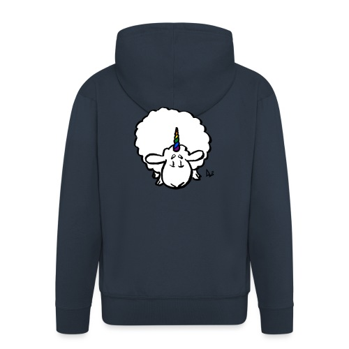 Ewenicorn - it's a rainbow unicorn sheep! - Men's Premium Hooded Jacket