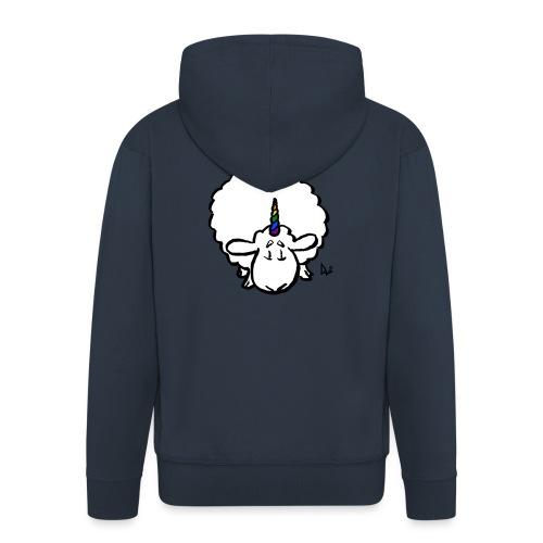 Ewenicorn - to tęcza jednorożca owiec! - Rozpinana bluza męska z kapturem Premium