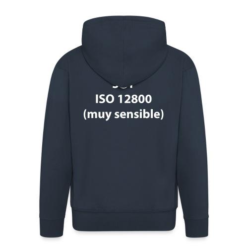 SOY ISO 12800 MUY SENSIBLE con logo - Chaqueta con capucha premium hombre