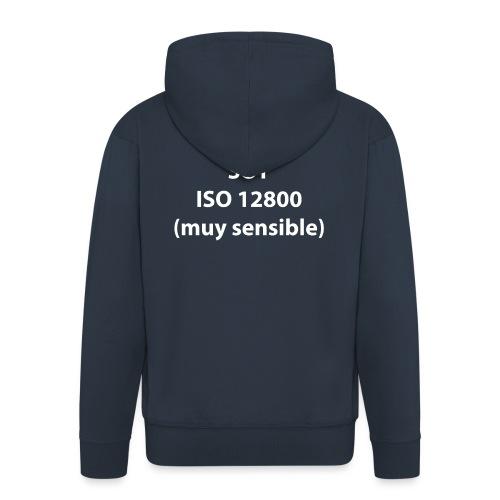 SOY ISO 12800 MUY SENSIBLE sin logo - Chaqueta con capucha premium hombre