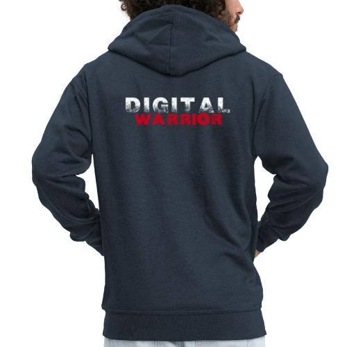DIGITAl WARRIOR II - Rozpinana bluza męska z kapturem Premium