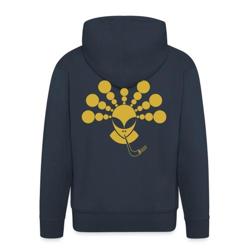 The Gold Smoking Alien - Men's Premium Hooded Jacket