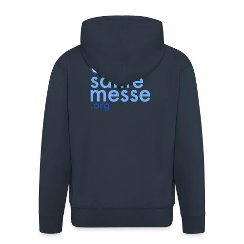 Orario Sante Messe T-shirt front - Felpa con zip Premium da uomo