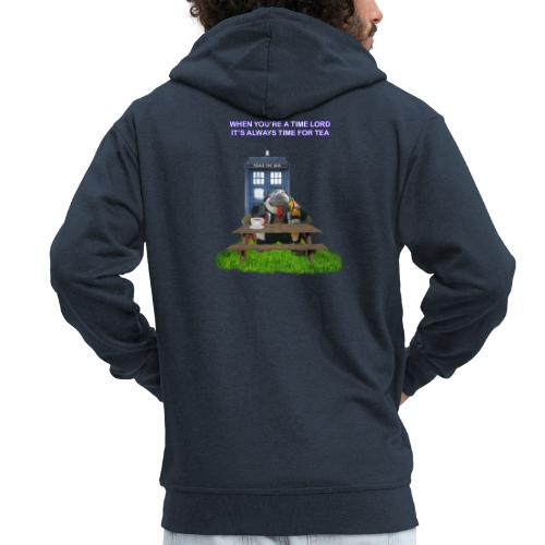 TIME AND SPACE AND TEA - Men's Premium Hooded Jacket