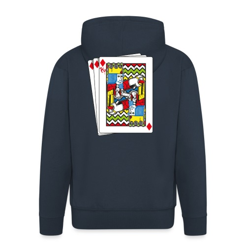 King Playing Card holding a Spraycan - Mannenjack Premium met capuchon