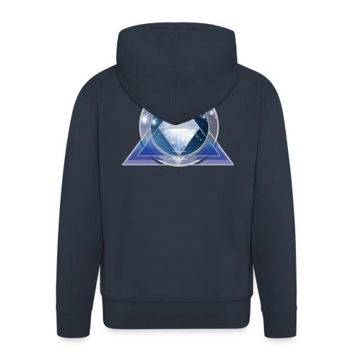 kosmische Pyramide - Männer Premium Kapuzenjacke