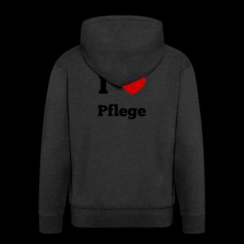 I LOVE PFLEGE - Männer Premium Kapuzenjacke