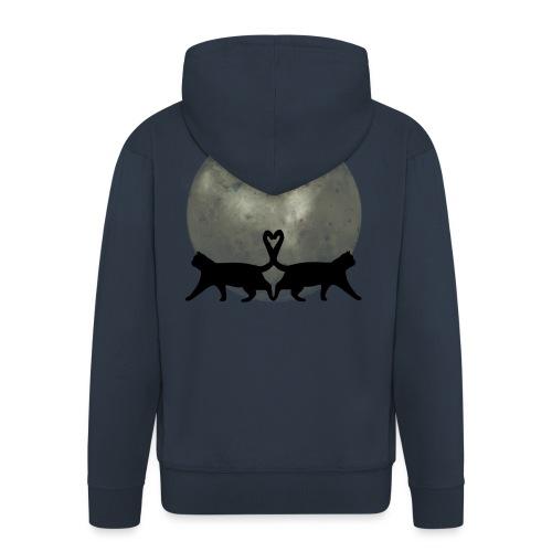 Cats in the moonlight - Mannenjack Premium met capuchon