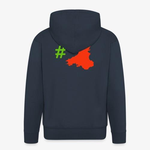 Hashtag Wales - Men's Premium Hooded Jacket