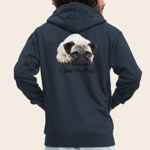 love my pug - Männer Premium Kapuzenjacke