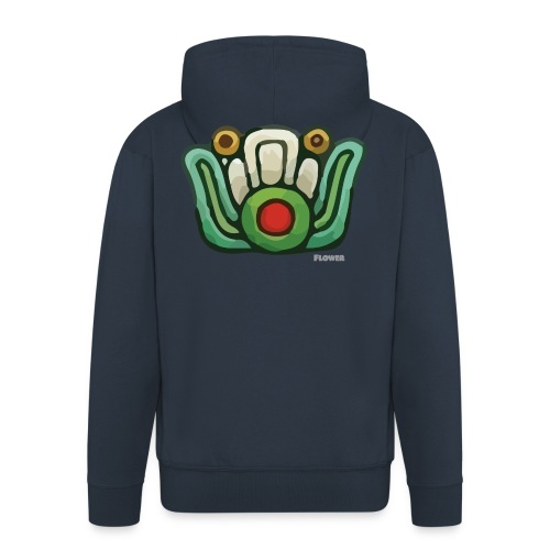 Aztec Flower Color - Men's Premium Hooded Jacket