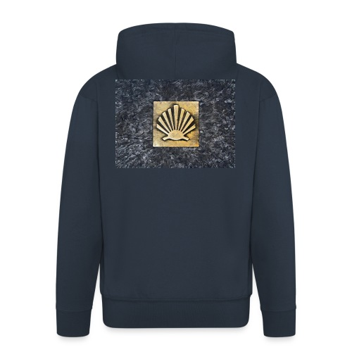 Scallop Shell Camino de Santiago - Men's Premium Hooded Jacket