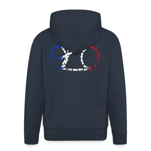 French bike chain - Men's Premium Hooded Jacket