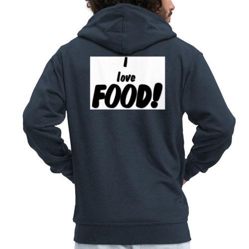 I love FOOD - Premium Hettejakke for menn