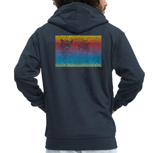 Leopard rainbow pattern background - Männer Premium Kapuzenjacke