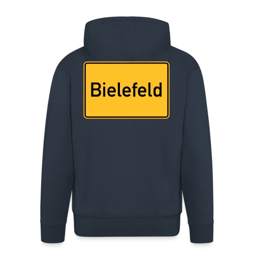 Ortsschild Bielefeld - Männer Premium Kapuzenjacke