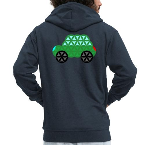The Car Of Life - M02, Sacred Shapes, Green/363 - Men's Premium Hooded Jacket