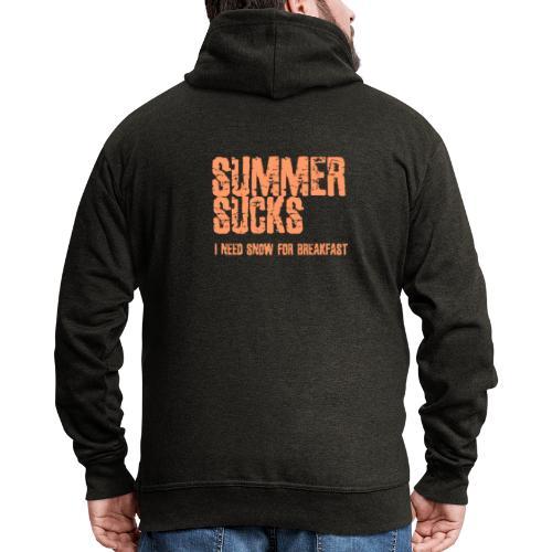 SUMMER SUCKS - Mannenjack Premium met capuchon