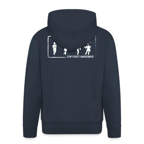 Stop street harassment: whistling - Men's Premium Hooded Jacket
