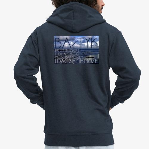 Bałtyk - Rozpinana bluza męska z kapturem Premium