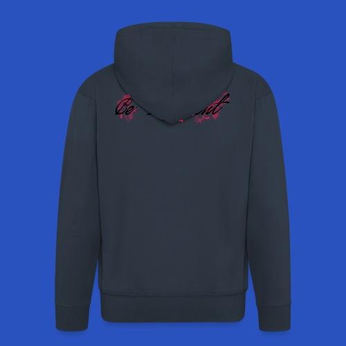 be_different - Felpa con zip Premium da uomo