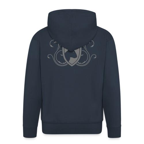 Bullterrier Wappen 1c - Männer Premium Kapuzenjacke