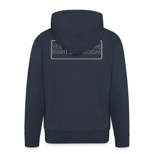right_bathroom - Men's Premium Hooded Jacket