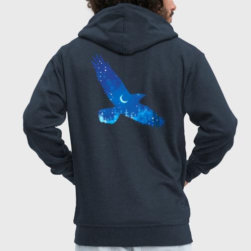 Oiseau Bleu d'hiver - Veste à capuche Premium Homme