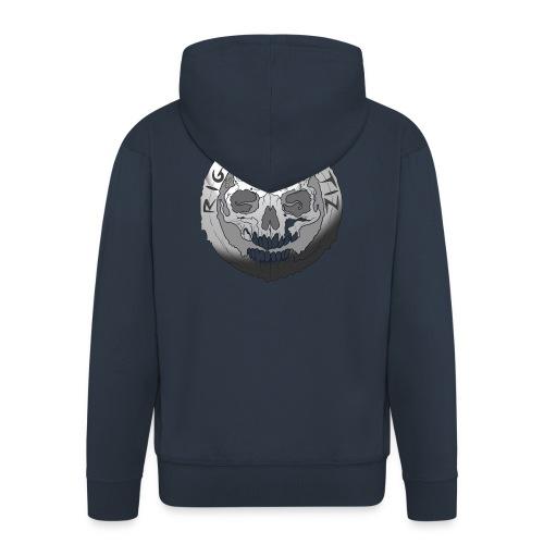 Rigormortiz Black and White Design - Men's Premium Hooded Jacket