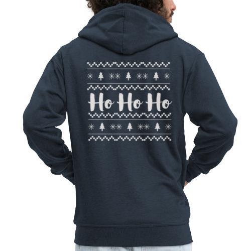 HO HO HO Babbo Natale, Ugly Christmas sweater - Felpa con zip Premium da uomo