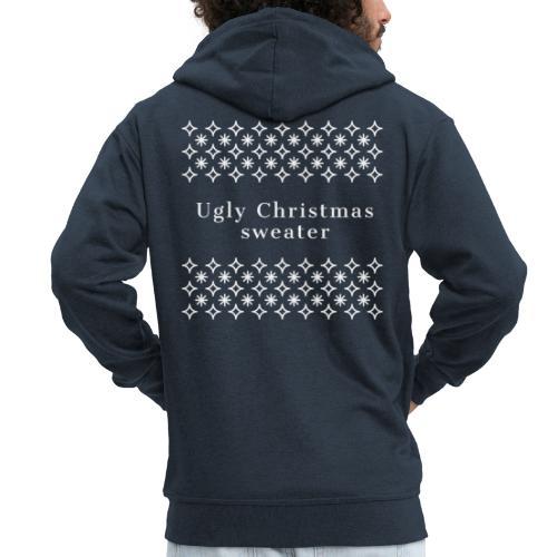 ugly Christmas sweater, maglione natalizio - Felpa con zip Premium da uomo