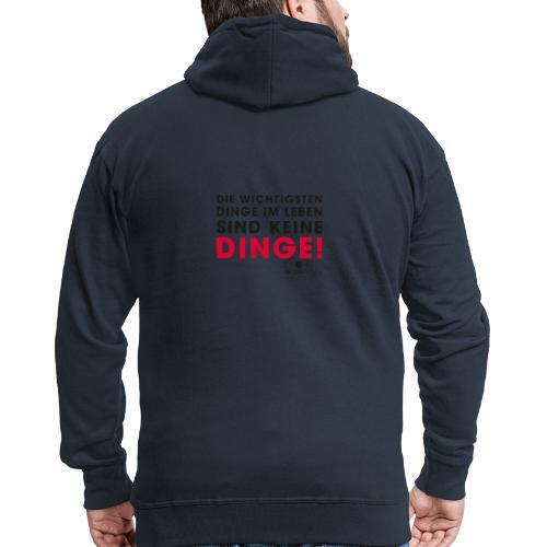Motiv DINGE schwarze Schrift - Männer Premium Kapuzenjacke
