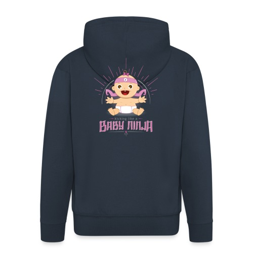 Baby Ninja - Rosa - Männer Premium Kapuzenjacke