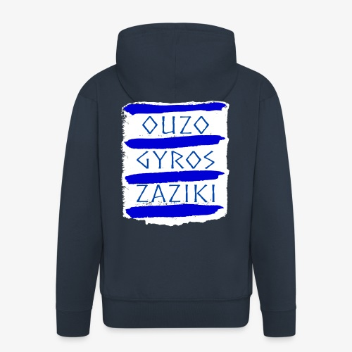 Ouzo Gyros Zaziki - Männer Premium Kapuzenjacke