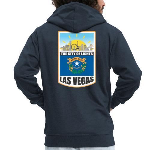 Las Vegas - Nevada - The city of light! - Men's Premium Hooded Jacket
