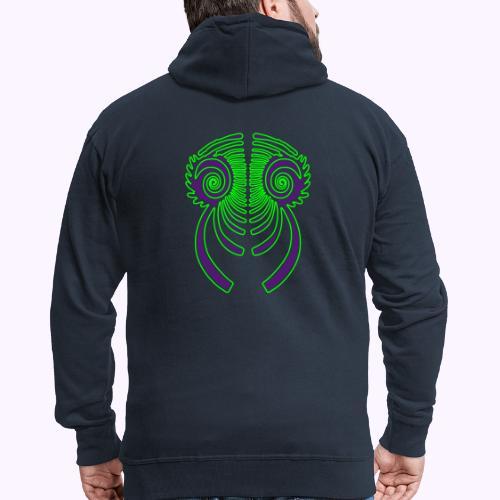 Fractal Dragon 3 color 2 - Men's Premium Hooded Jacket