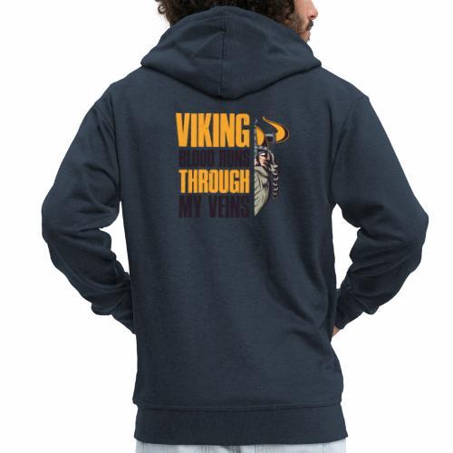 Viking Blood Runs Through My Veins - Miesten premium vetoketjullinen huppari