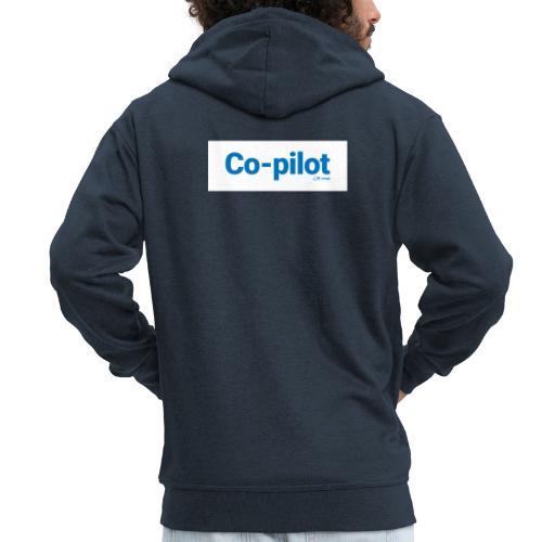 Co-pilot (White) - Men's Premium Hooded Jacket