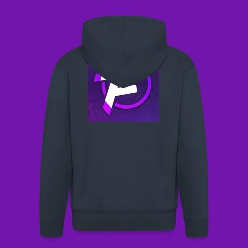 Flux Clan Logo - Men's Premium Hooded Jacket