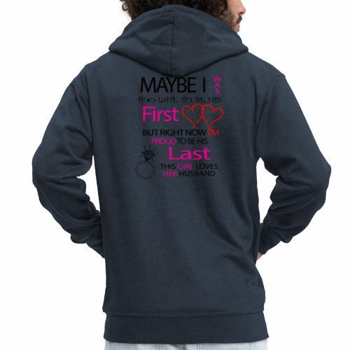 I love my husband - gift idea - Men's Premium Hooded Jacket