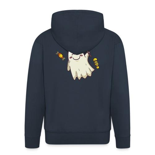 little cute ghost carrying candy - Veste à capuche Premium Homme